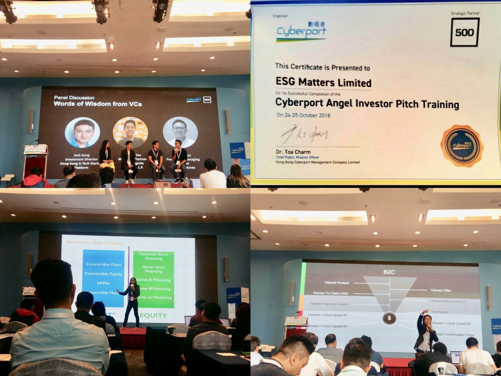 ESG Matters among top 10 startups in Cyberport Angel Investor Pitch Training