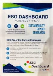 ESG Dashboard powered by Kvikoo Flyer (Front)