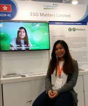 FinTech Taipei Colleague Angie at booth